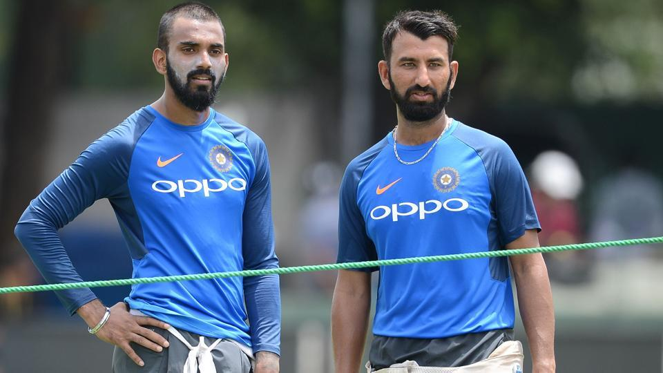 Lokesh Rahul (L) has recovered from illness and is likely to start the second Test as Shikhar Dhawan's opening partner.  (AFP)