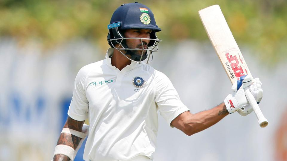 Shikhar Dhawan scored a brilliant century against Sri Lanka in the first Test match in Galle.