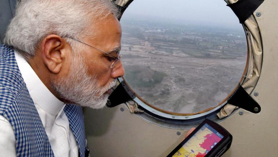 Prime Minister Narendra Modi flew over parts of northern Gujarat to survey flood-affected districts last week, prompting rivals to accuse him of bias.