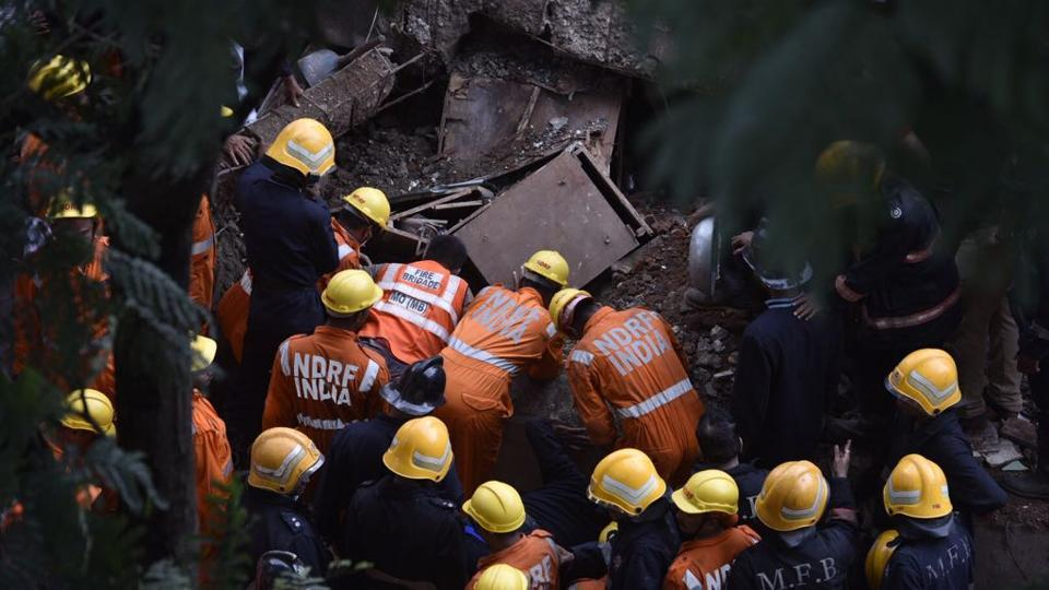 """The Mumbai police have sent samples collected from the collapsed building to Forensic Science Laboratory (FSL) to check the """"content quality""""."""