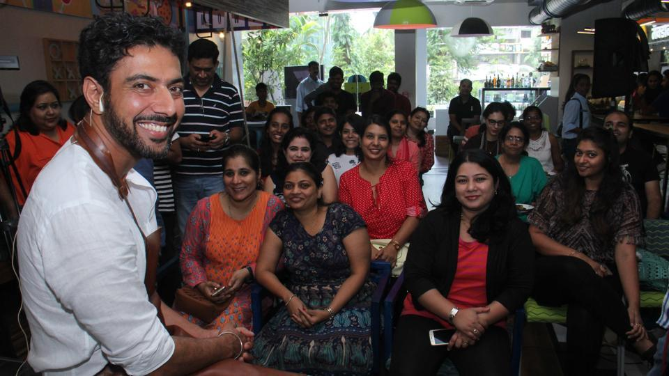 Chef Ranveer Brar at the workshop held as part of Hindustan Times Fitter Mumbai campaign at DOH, Andheri (W) in Mumbai on Sunday, July 30, 2017.