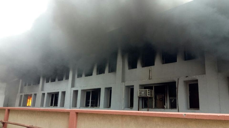 The blaze at the factory of Avon Biwheeler Accessories Pvt Ltd started around 8.30am on Tuesday and nine fire tenders doused the flames by 12.30pm.