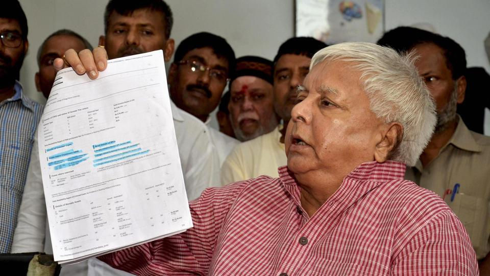 RJD chief Lalu Prasad criticised Bihar chief minister Nitish Kumar at a press conference on Tuesday.