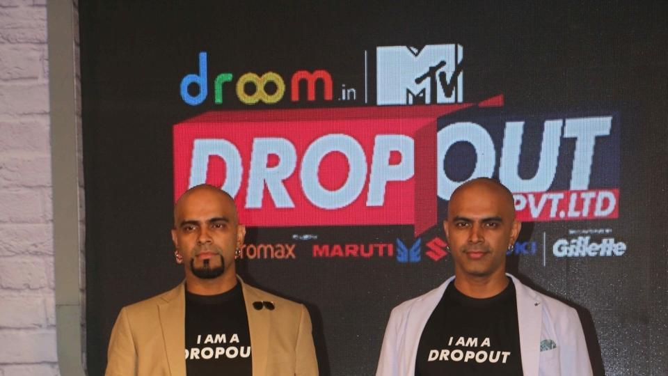 Raghu Ram and Rajiv Laxman during the launch of Drop Out.