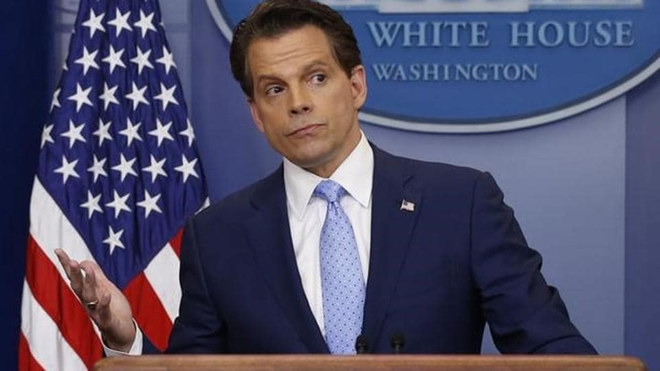 New White House Communications Director Anthony Scaramucci takes questions at the daily briefing at the White House in Washington, US, July 21, 2017.