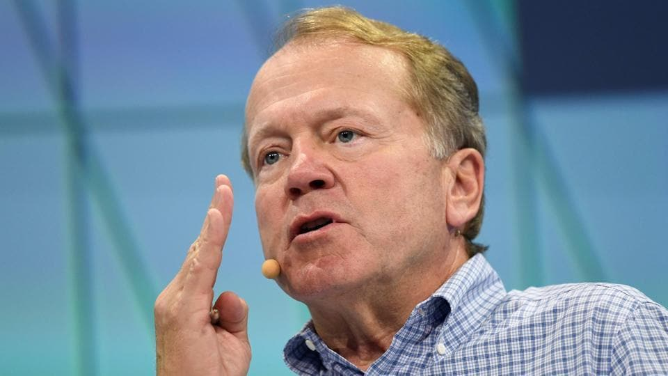 Cisco executive chairman John Chambers gestures as he speaks during a session at The Viva Technology Event in Paris.