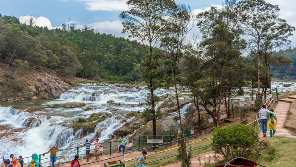 Pykara waterfall in Ooty.