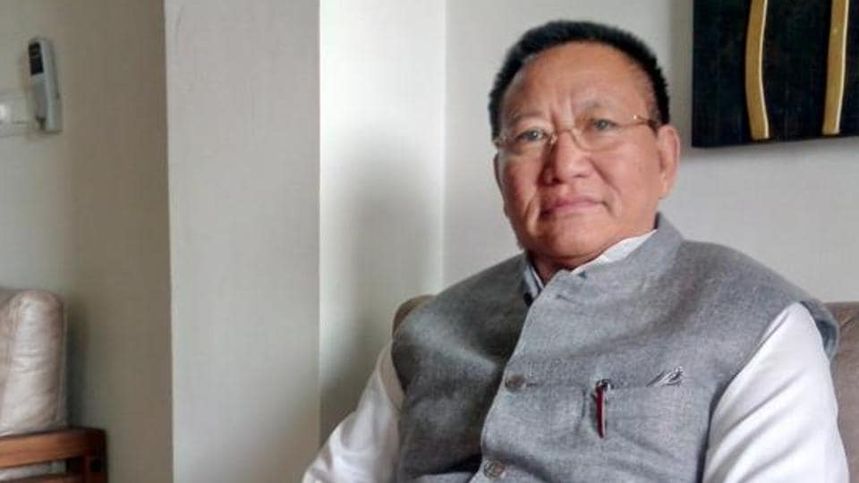 Nagaland chief minister TR Zeliang