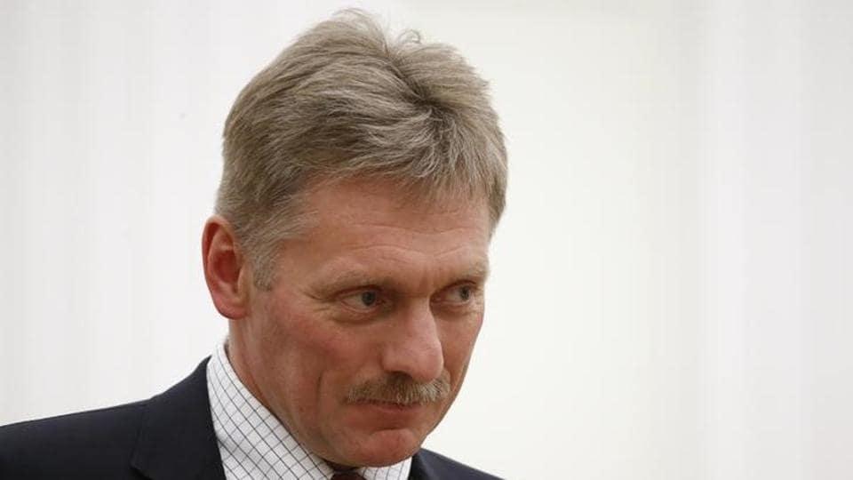 Kremlin spokesman Dmitry Peskov in Moscow, Russia.