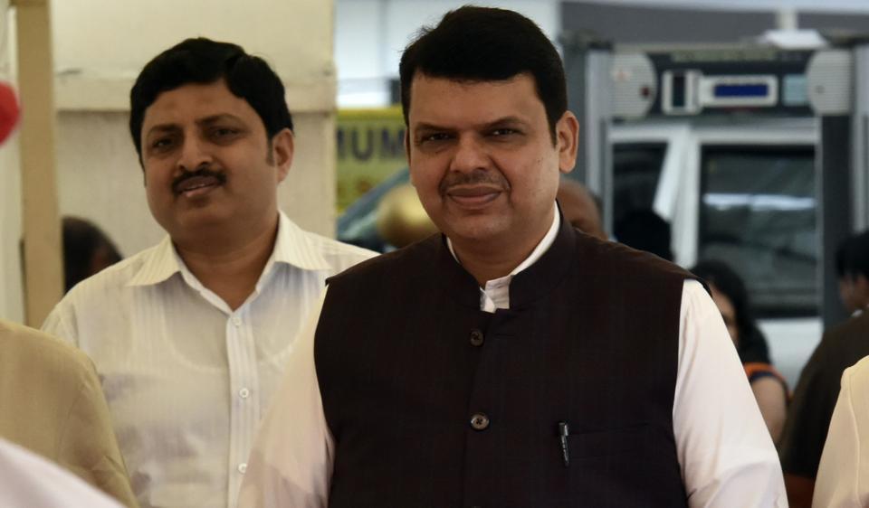 Maharashtra chief minister Devendra Fadnavis arrives at Vidhan Bhavan for monsoon assembly session in Mumbai.