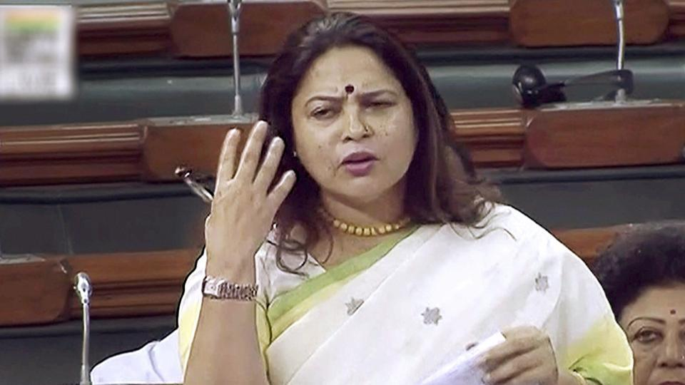 BJP MP Meenakashi Lekhi speaks in the Lok Sabha during the ongoing monsoon session, in New Delhi on Tuesday.