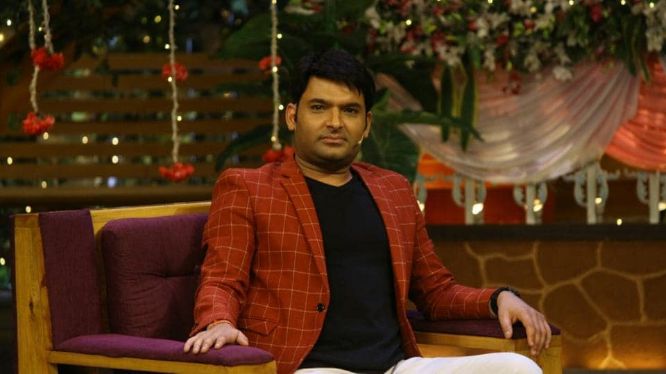 Kapil Sharma during the promotion of upcoming film Mubarakan on the set of The Kapil Sharma Show in Mumbai.