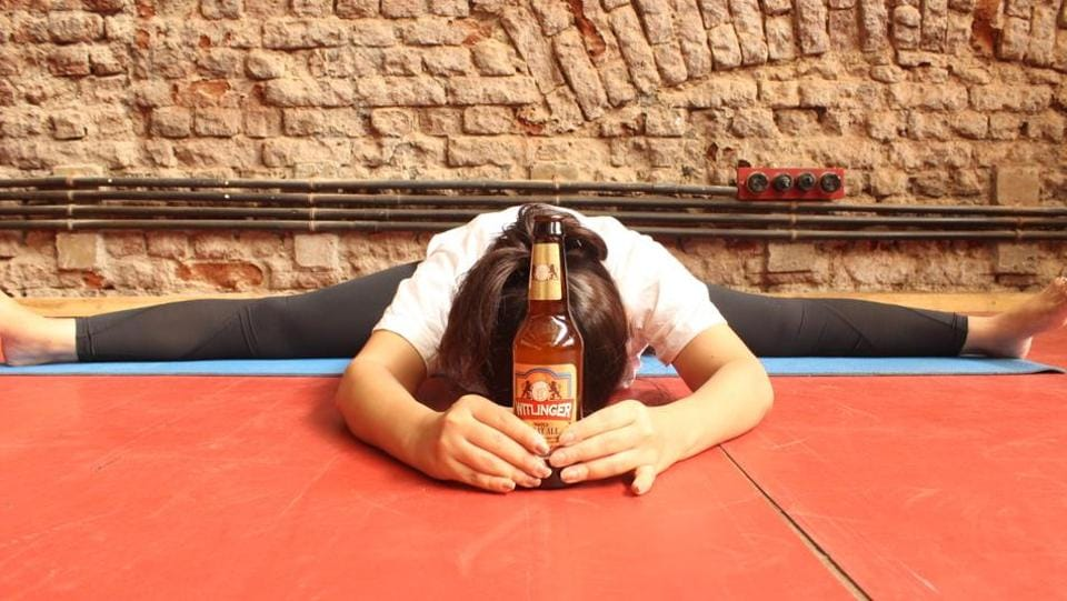Beer yoga is a fusion fitness form combining the drink with the exercise regimen.
