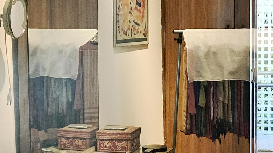 The little room is tucked inside a white bungalow at 1, Safdarjung Road, where Indira Gandhi lived for 20 years.