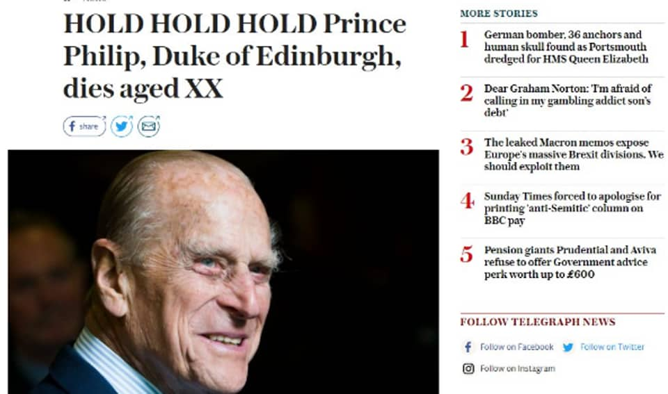 Prince Philip's death,Duke of Edinburgh,the Daily Telegraph