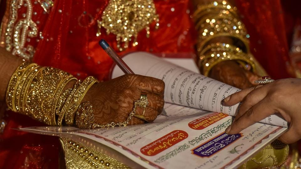 A person can register his/her marriage from home simply at the click of a mouse by visiting the website of stamp and registration department.