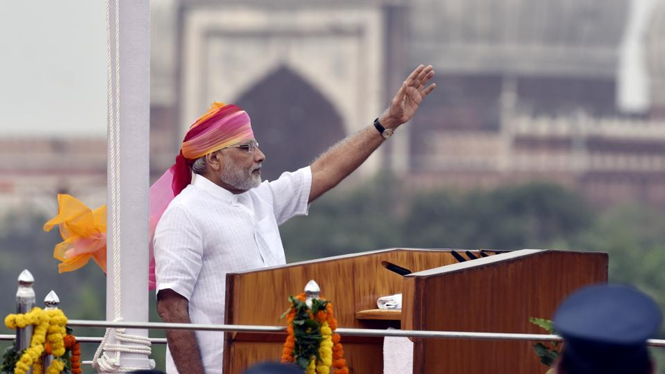 Prime Minister Narendra Modi after the flag hoisting ceremony on the 2016 Independence Day at Red Fort in New Delhi. This year, there are also requests to make the political system more transparent.