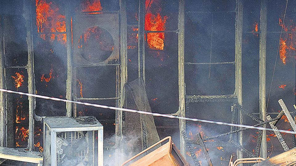 Fire at the Punjab Financial Corporation building in Bank Square on July 3 brought the MC officials back in action.