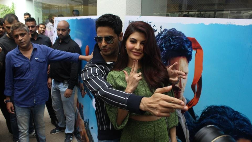 Sidharth Malhotra and Jacqueline Fernandez during special preview of A Gentleman in Mumbai.