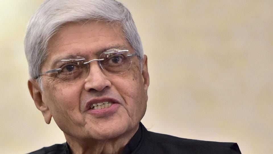 Gopal Krishna Gandhi during an interview in New Delhi.