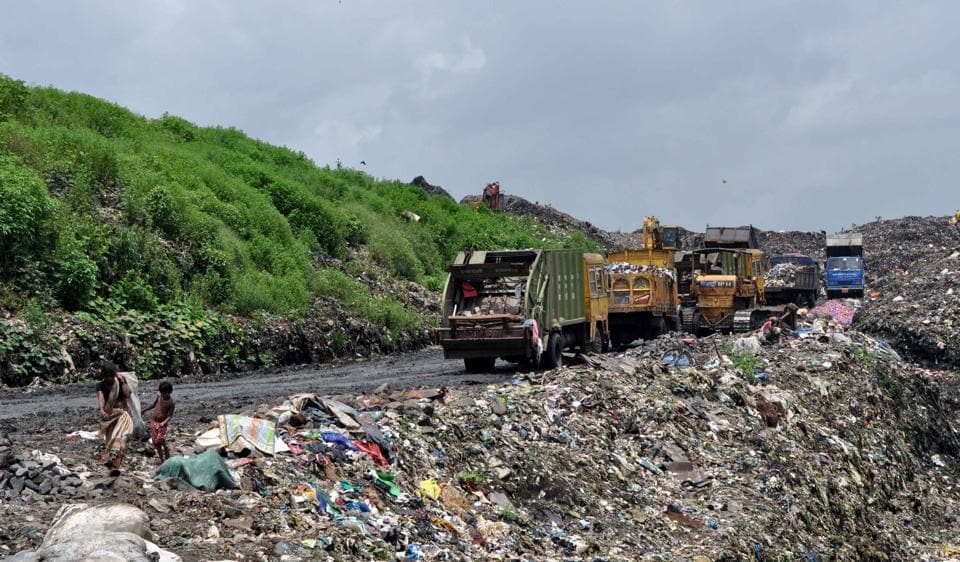 Every day, 700 metric tonnes of unprocessed waste is dumped at the Adharwadi landfill, Kalyan