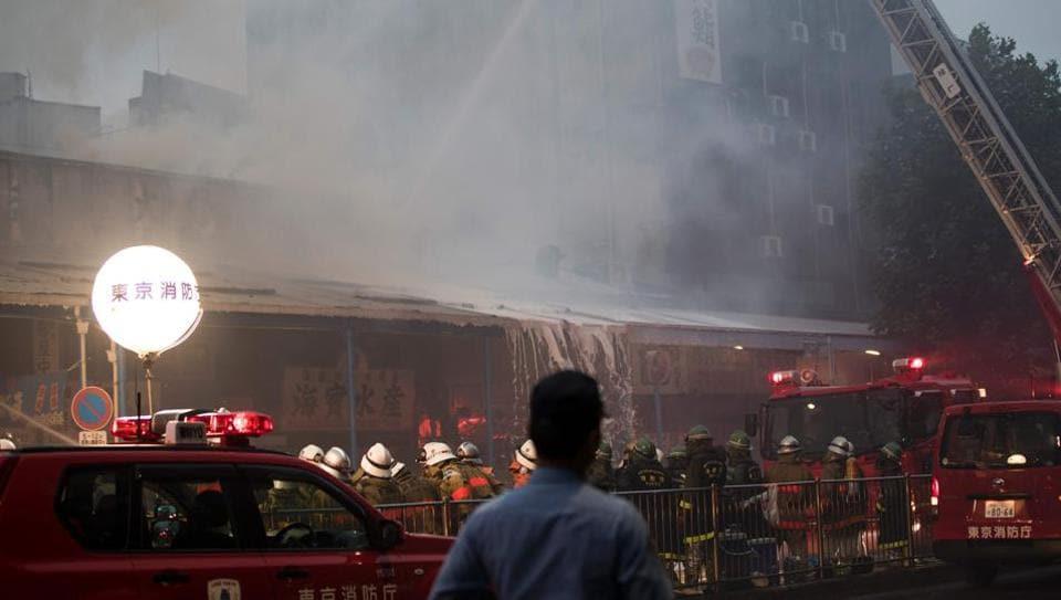 Tokyo,Tokyo fire,Tsukiji fish market