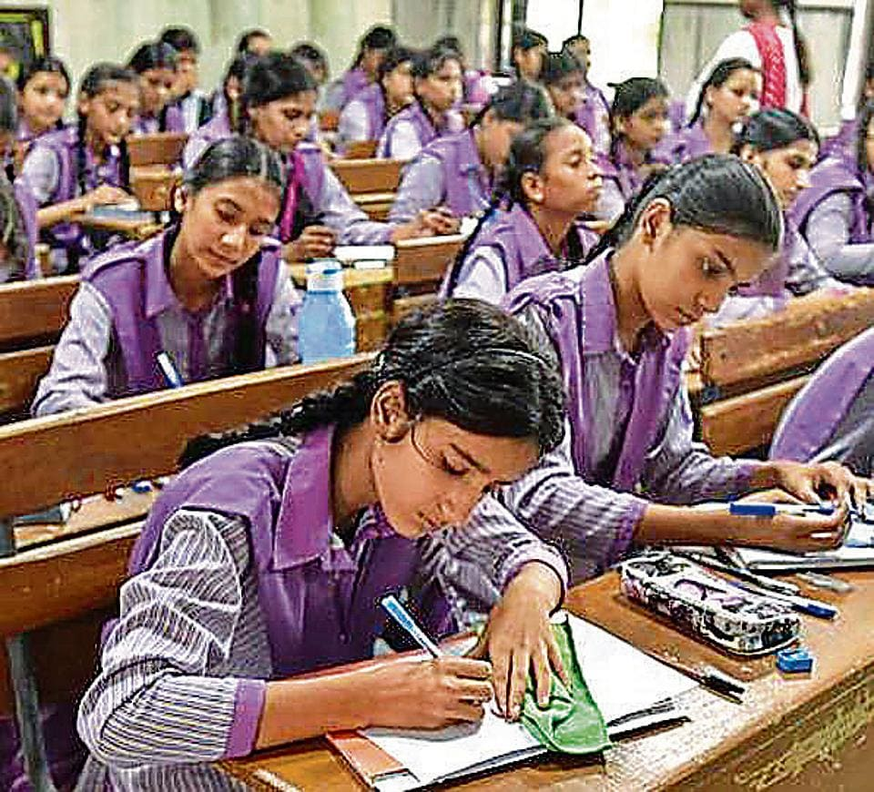 New Delhi, India - Aug. 29, 2016: Students study in 'model classes' at Zeenat Mahal Govt.Sarvodaya Girls Sr. School at Jafrabad, in New Delhi, India, on Monday, August 29, 2016. (Photo by Raj K Raj/ Hindustan Times) **To go with Heena
