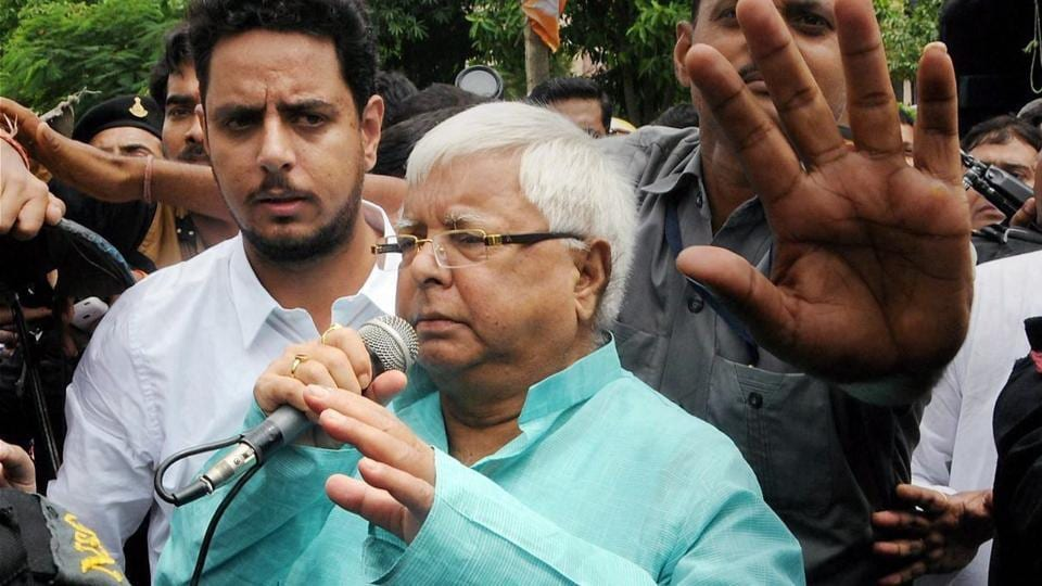 """RJD chief Lalu Prasad Yadav said the raids at his properties were intended to terrorise him, but """"I am not the one to get cowed down at any cost""""."""