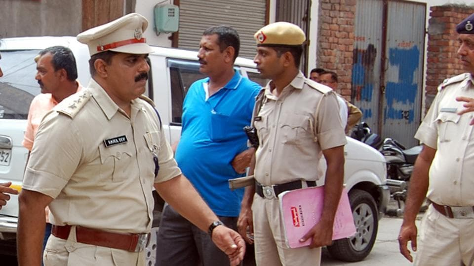 Apolice team investigating the spot in Sonepat where the man was killed on Wednesday.