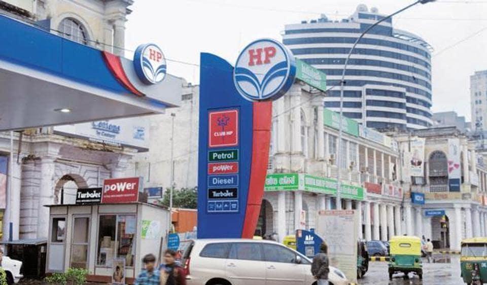 A HPCL petrol pump in New Delhi.