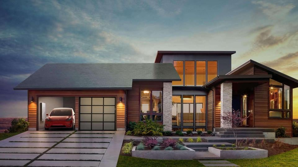 Tesla claims that its solar roof tiles are three times stronger than conventional roofing glass