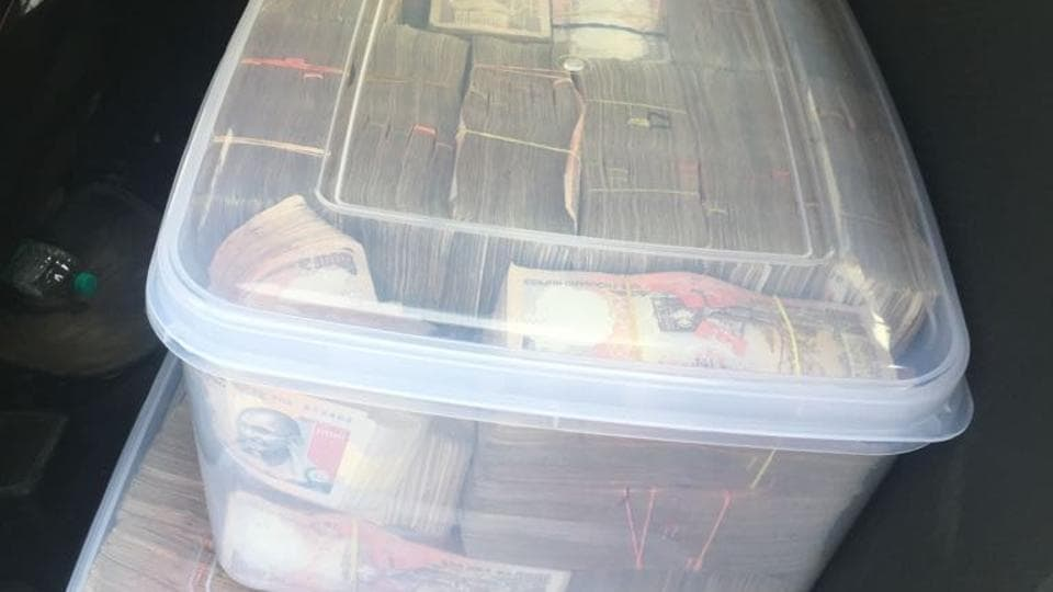 The notes were stuffed in plastic boxes and were in the denominations of Rs 500 and Rs 1,000. Currency notes of both these denominations had been banned by the Union government on November 8 last year.