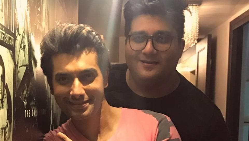 Actor Ssharad Malhotraa with his best friend Prateek Chakravorty.