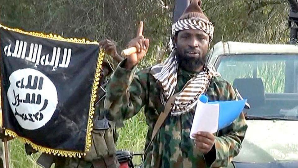 A screengrab of Boko Haram leader Abubakar Shekau from a video released by the Nigerian Islamist group.