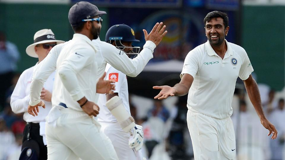 Indian cricketer Ravichandran Ashwin (R) starred on Day 2 of the second Test against Sri Lanka at Colombo on Friday.