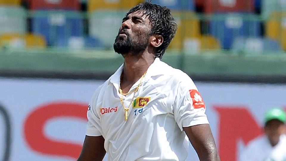 Sri Lanka's Nuwan Pradeep sustained a hamstring injury during the second Test against India in Colombo.