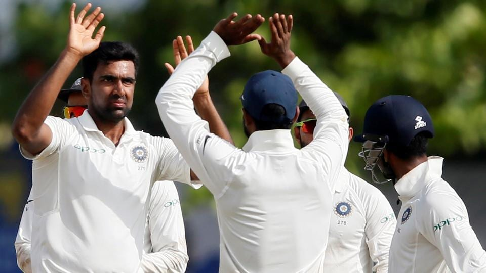 Ravichandran Ashwin celebrates after taking a wicket on Day 2 of the second Test against Sri Lanka at Colombo. Catch full cricket score of India vs Sri Lanka, 2nd Test, Day 2, here