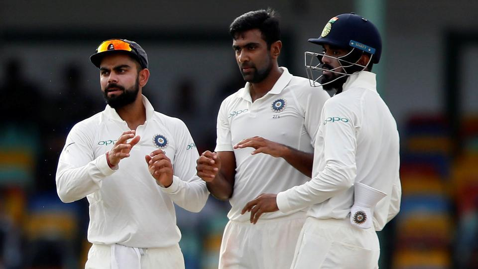 Ravichandran Ashwin helped India end Day 2 of the 2nd Test at Colombo in a dominant position.   (REUTERS)