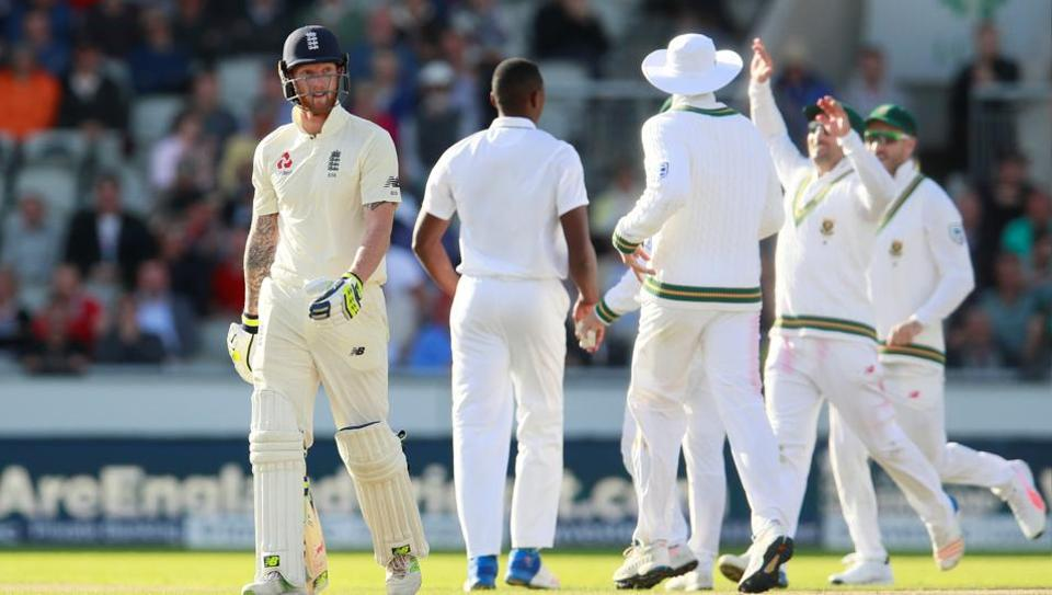Ben Stokes scored a half century but was dismissed in the penultimate over of the game.