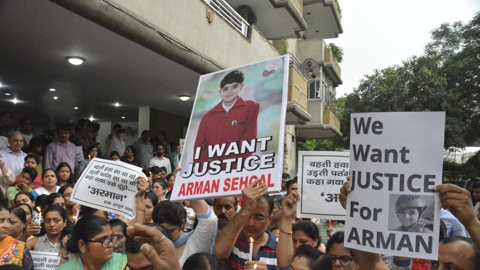 Residents came together on Friday to support the Sehgals,Arman's parents, in their quest for justice.