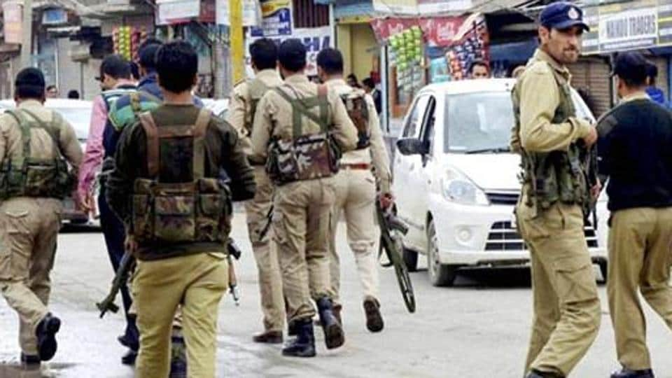 Jammu and Kashmir Police at Sopore.