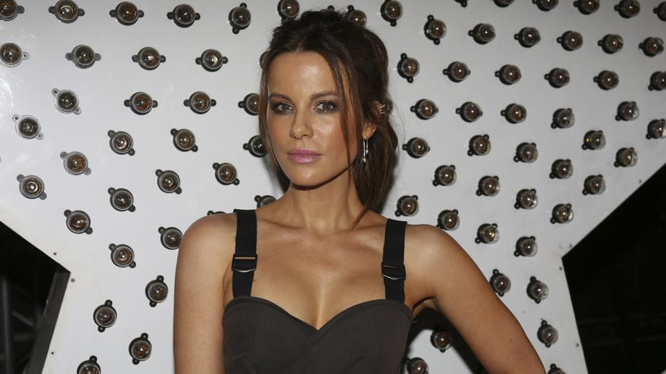 Kate Beckinsale attends the Moschino fashion show at MADE Fashion Festival.