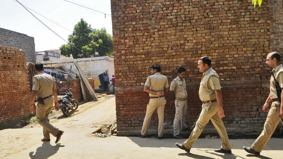 Mawana and Sardhana towns in UP's Meerut district have been tense for the last two days  but the police have so far managed to keep the peace.