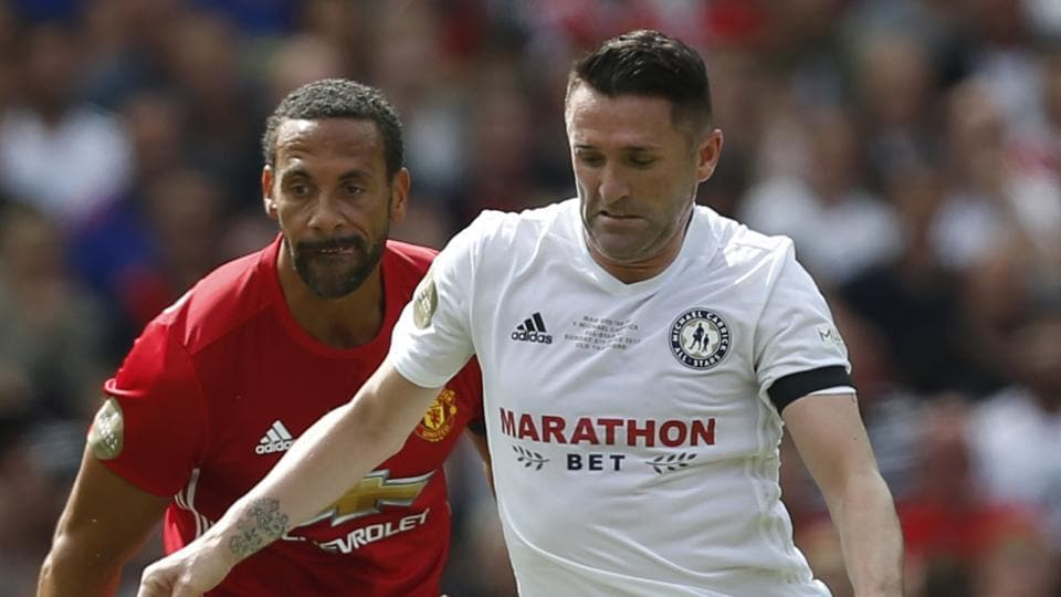 Irish football great Robbie Keane (R) is set to play his trade with ATK in the Indian Super League this season.