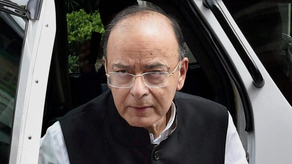 Arun Jaitley during the ongoing monsoon session at Parliament, in New Delhi.