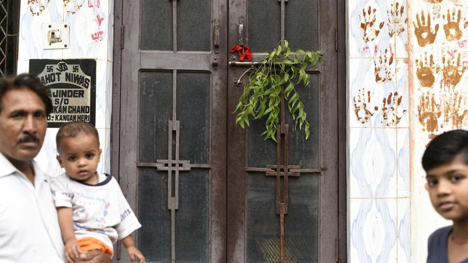 Terrorised by mysterious chopping of hair over the oast month, people have resorted to putting lemon-chillies, neem leaves and hand imprints at the entrance of their house.