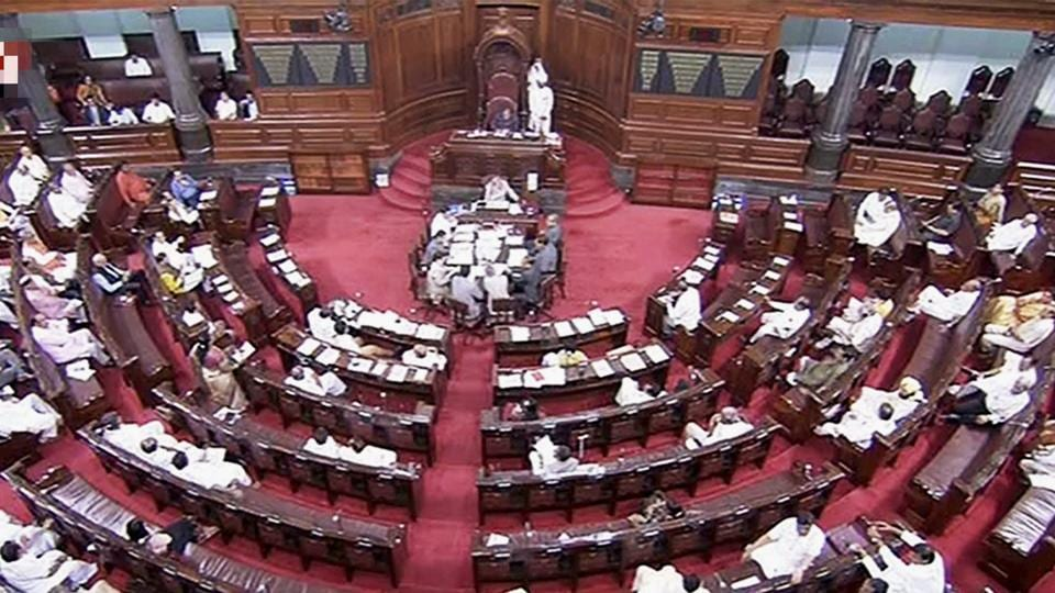 A view of the Rajya Sabha during its monsoon session.