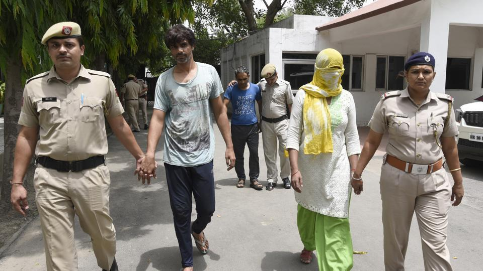 The three accused in police custody onFriday.