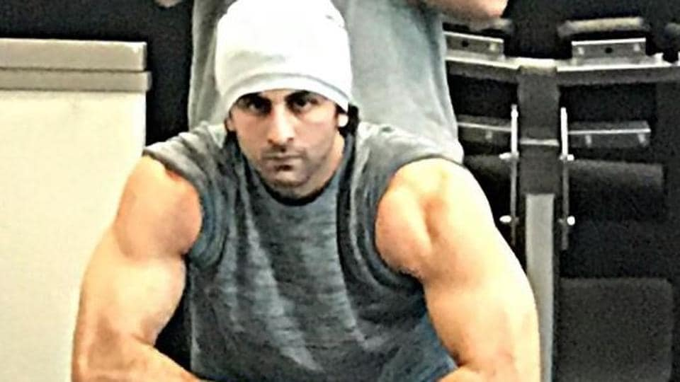 Meet ranbir kapoor and his biceps as he preps to play sanjay dutt ranbir kapoors hard work for his film on sanjay dutt is showing good results altavistaventures Image collections