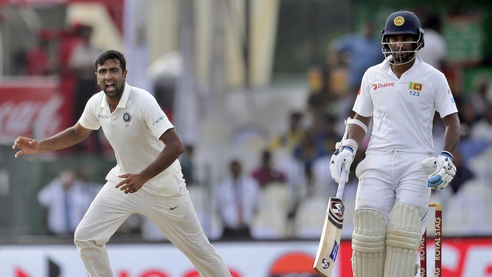 In response, Ravichandran Ashwin picked up the wickets of Dimuth Karunaratne and Upul Tharanga as Sri Lanka stumbled early.  (AP)